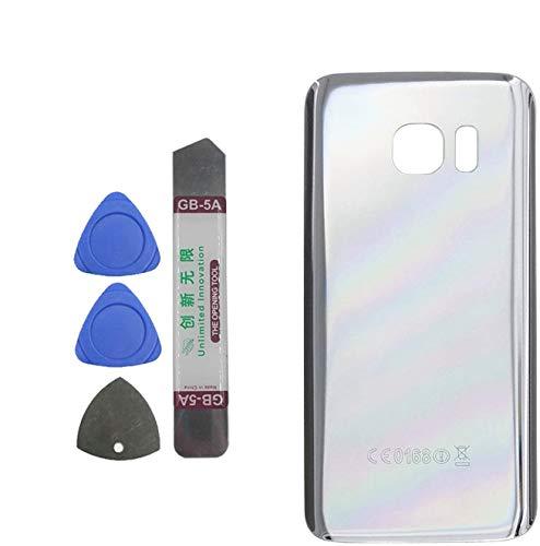 Upplus, cover posteriore per batteria compatibile per Samsung Galaxy S7 SM G930 G930 V, colore argento