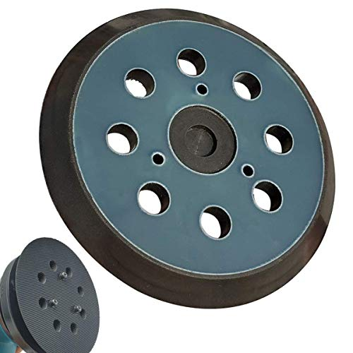 "Replacement Sander Pad for Makita 743081-8, 743051-7 - Fit Makita BO5041/K, BO5010/K, BO5030/K, BO5031/K, XOB01Z Random Orbital Sanders - Standard 5"" Hook and Loop Sander Pad"