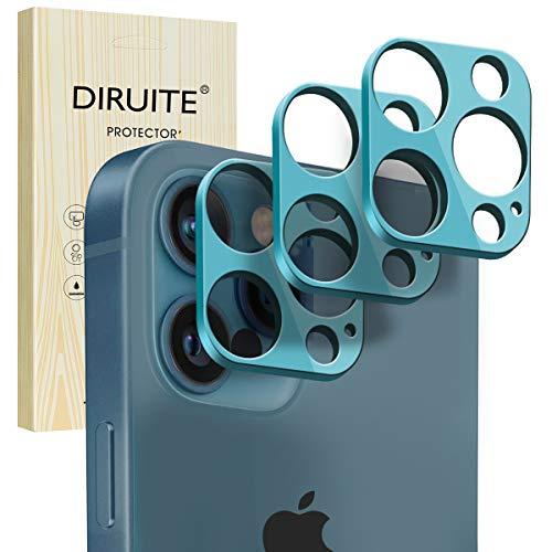 Diruite - Pellicola Protettiva per Obiettivo della Fotocamera [Confezione da 3] Vetro Temperato HD, Flessibile Ultra Sottile per Apple iphone 12 Pro (