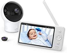 """Video Baby Monitor, eufy Security, Video Baby Monitor with Camera and Audio, 720p HD Resolution, Night Vision, 5"""" Display, 110° Wide-Angle Lens Included, Lullaby Player, Ideal for New Moms"""