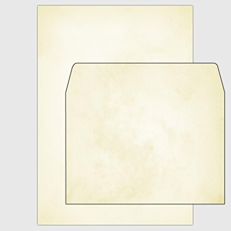 Set    100x Marmorpapier Bianco - Safran-gelb - DIN A5   150 g   inkl. Umschläge B019ZHO9W8 | Genial  | Deutschland  | Qualitätskönigin  256d3b