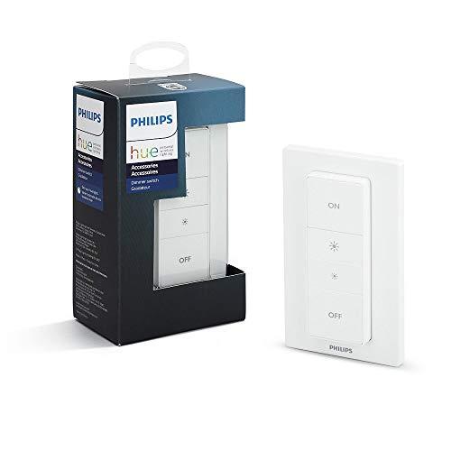Philips Hue Wireless Dimming Schalter, komfortabel dimmen ohne Installation, Standard Verpackung 8718696506943,...