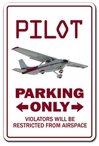 BDTS Nieuwe Pilot Decal Parking Decals Air Plane Cessna Fly Beechcraft Vliegtuig Luchtvaart Metalen Teken 8x12 inch
