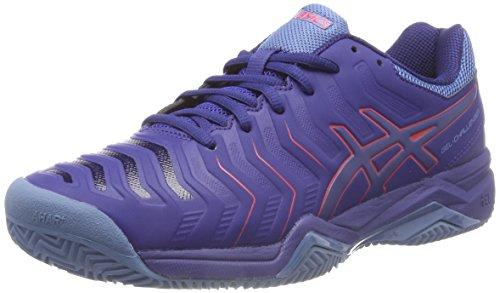 Asics Gel-Challenger 11 Clay, Zapatillas de Tenis para Hombre, Azul (Blue Print/Red Alert 400), 40 EU
