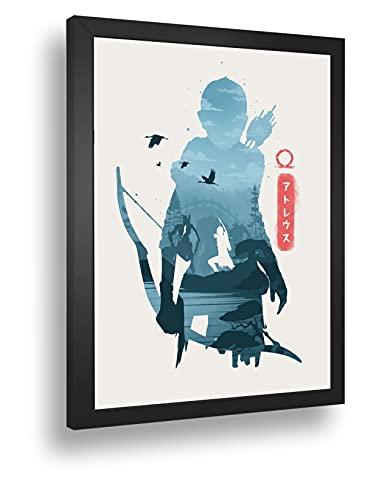 Quadro Decorativo Poste God Of War Atreus Classico Retro