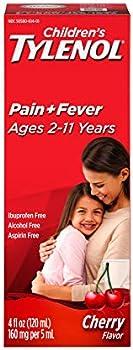 Tylenol Children's Oral Suspension Medicine with Acetaminophen 4 Fl Oz