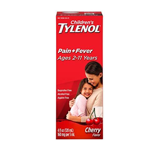 Tylenol Children's Oral Suspension Medicine with Acetaminophen, Cherry, 4 Fl Oz