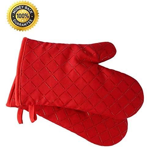 Premium antideslizante guantes horno Juego 2 hasta