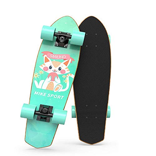 Beginners Mini Cruiser Skateboard, Complete Retro Penny Maple Wood Board with ABEC-7 Bearing