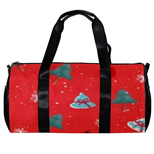 Anmarco Seesack für Damen und Herren, Schneeflocke, Weihnachtsbaum und Obst, Sport, Fitnessstudio, Tragetasche, Wochenende, Übernachtung, Reisetasche, Outdoor-Gepäck, Handtasche