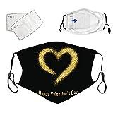 YpingLonk 1pc Día de San Valentín Unisex Adulto Bufanda con 2 filtros Moda Universal 3 Capa Impreso Lindo Ajustable Deporte elástico al Aire Libre Bufanda Earloop -21123-20