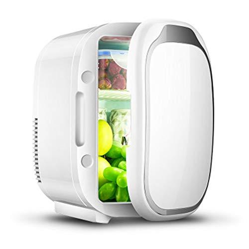 HANYF Mini Refrigerador 6 litros, Refrigerador De Una Puerta, Sistema Termoeléctrico Alimentado por AC/DC, Enfriador Y Calentador/para Automóviles, Hogares, Oficinas Y Dormitorios Blanco