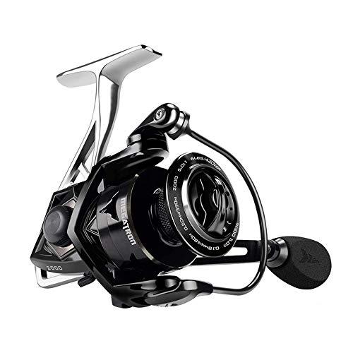 GYAM Rueda Pesca, 7 + 1BB Rodamientos Izquierda Derecha Rueda Pesca Intercambiable Carrete Giratorio Metal Alta Velocidad 5.0: 1 4.5: 1,3000