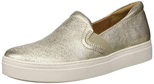 Naturalizer Women's Carly 3 Sneaker, Gold, Numeric_9_Point_5 Wide