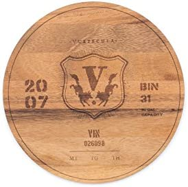 Ironwood Gourmet 0 5 x 9 x 9 inches Multi Use Circle Serving Board 2007 Wine Barrel product image
