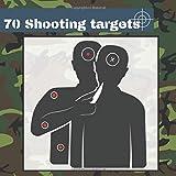 70 Shooting Targets: 8.5' x 8.5'   Silhouette black   firearms, airsoft, BB, rifles, pellet guns , archery  