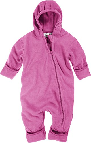 Playshoes Baby-Unisex Fleece Overall, Rosa (14 Rose), 62