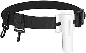 DEWIN Waist Rod Holder Belt - Fishing Rod Belt, Adjustable Fishing Fighting Belt Support Stand Up Harness Waist Rod Pole Holder