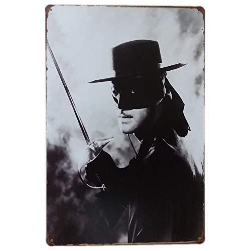 Generic Blechschilder_Die Maske des Zorro_Klassik Retro Blechschilder Vintage Dekoration_Motiv Hollywood, Kino, Film, Stars, VIP & Ikonen_Blechschilder Sprüche & Zitate Metallschild