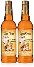 Jordan's Skinny Syrups Salted Caramel, Sugar Free Flavoring Syrup, 25.4 Ounce Bottle (Pack of 2)