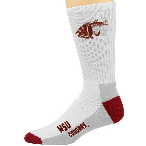 NCAA Washington State Cougars Tri-Color Team Logo Tall Socks