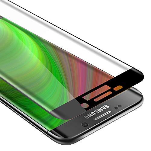 Cadorabo Pellicola Protettiva copertura completa compatibile con Samsung Galaxy S6 EDGE in TRASPARENTE con NERO - Vetro di protezione del display (Tempered) con durezza 9H con compatibilità 3D touch