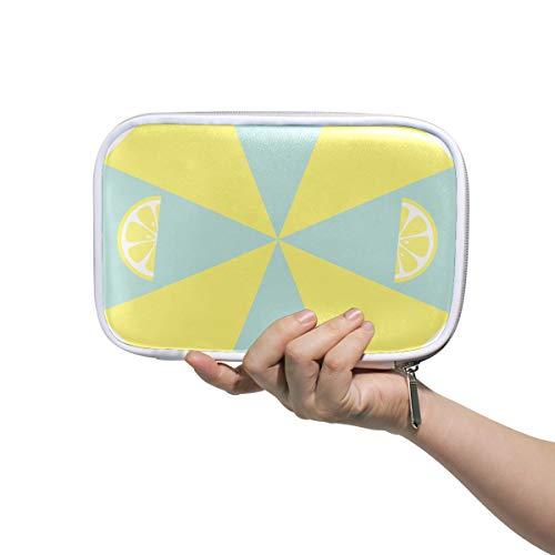 Trousse de toilette pour hommes Trousse de citron vert menthe pastel jaune pour hommes stationnaires Trousse de toilette pour femmes Multifonctionnel