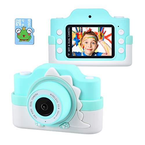 Tyhbelle WiFi Kinderkamera mit Cartoon-Schutzhülle 24 Megapixel HD Digital Kamera 2.0