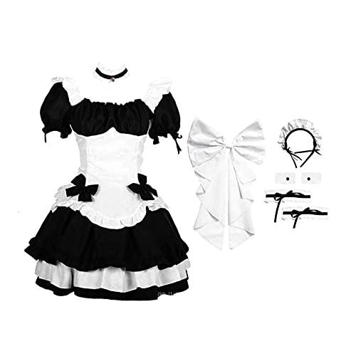 Huaxingda Cmoda Tela para Mujer Alemana Oktoberfest Maid Disfraz Sexy Mini Vestido para Oktoberfest, Halloween, Navidad, Fiesta de Baile