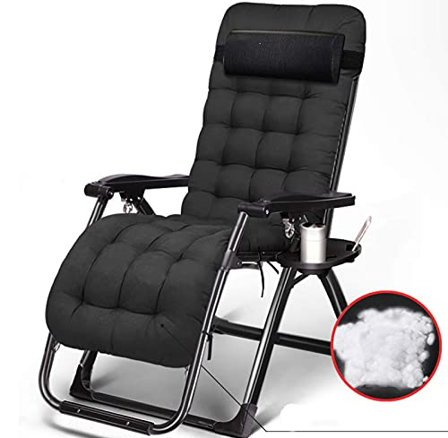 WGFGXQ Zero Gravity Chaise Lounge Chair,Folding Outdoor Garden Recliner Lightweight Adjustable Reclining with Pearl Cotton Removable Padded Camping Chairs,D