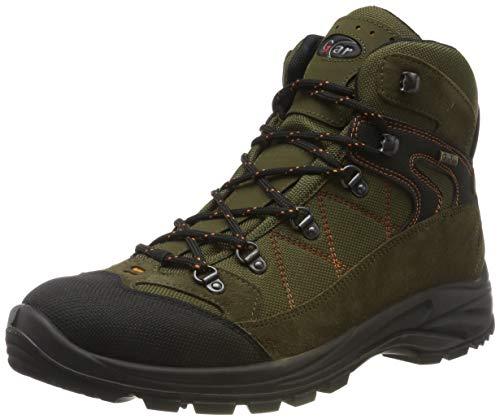 Grisport Scarponi Trekking Scarpe da Caccia da Uomo in Goretex Tecnica Impermeabile Scarponcino (43) - verde/arancio