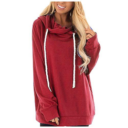 Damen Kapuzenpullover Winter Langarm Hoodie Pullover Baumwoll Sweatshirt Winterjacke...