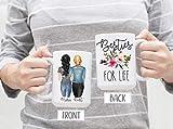 Besties For Life, Best Friend Mug, Friendship Mug, Friend Gift, Besties Resties, Floral Friend Mug, Personalized Mug, Custom Friend Mug