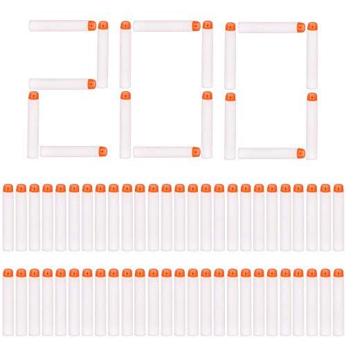 Airlab Darts Pfeile Leuchten im Dunkeln für Nerf, 200er Glow-in-The-Dark Refill Bullets Zubehör für Nerf Nachfüll-Pack Spielzeug für draußen und Familie, Weiß