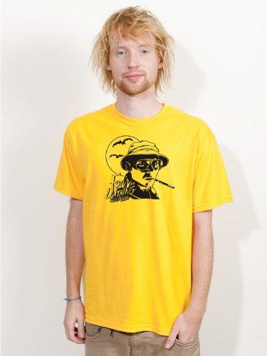 BIGTIME.de T-Shirt Fear & Loathing in Las Vegas Johnny Depp Kult Film Shirt gelb E32 - Gr. M