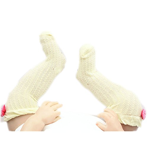 Bébé Chaussettes Bow Lovely Coton Summer Infant Stocking 1-3 Ans(jaune)