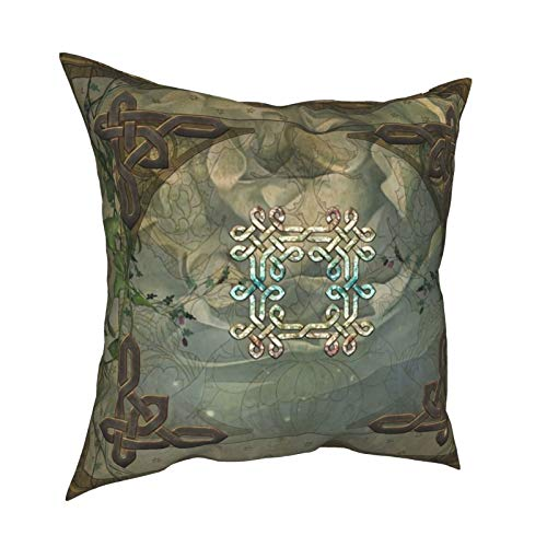 Brecoy Soft Decorative Square Throw Pillow Cover Cushion Covers Pillowcase Wonderful Decorative Celtic Knot Comforters Home Decor for Sofa Couch Bed Chair 18x18 Inch/45x45 cm