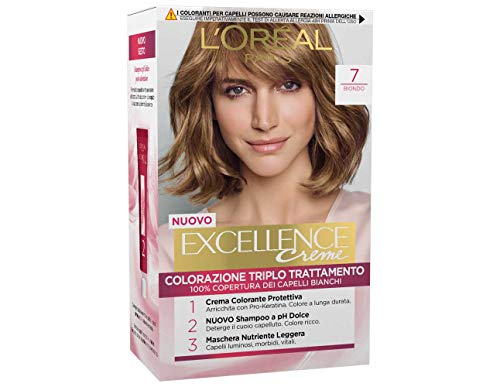 3 x L'Oreal Excellence Creme 7 blond Haarfarbe Farbe