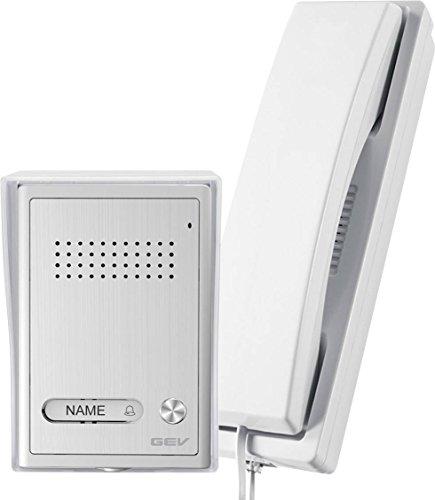 GEV 87347 1-Familienhaus Audio-Türsprechanlage CAB, 230 V, Silber/weiß