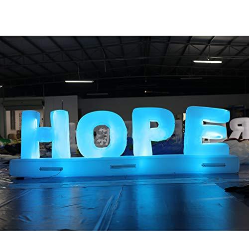 Hermosas Hope Letra Inflables Gigantes Románticas De 3 * 1.2 M con Luces LED, Que Se Pueden Usar para La Decoración del Día De San Valentín del Escenario del Evento De La Fiesta De Bodas