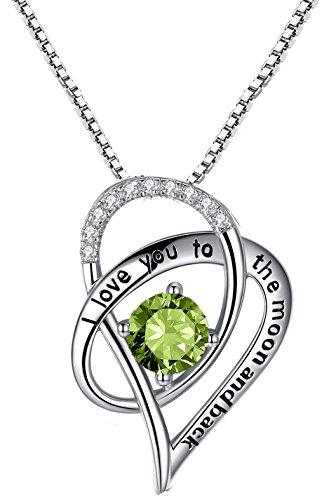 Forfamilyltd - colgante de plata esterlina con diseño de corazón y texto en inglés