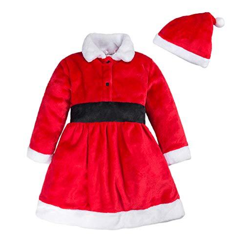 BIG ELEPHANT Unisex Baby 1 Piece Warm Christmas Long Sleeve Romper Pajama with Hat