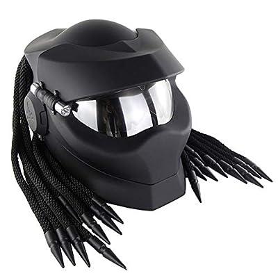 Robot Motorcycle Helmet,Revealable Lens Motorcycle Full Face Helmet,DOT/FMVSS-218 Safety Standards,Adult Unisex, Suitable for All Seasons,Matt Black,XL