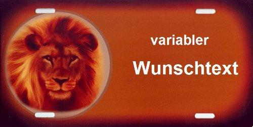 Schilderfeuerwehr Namensschild Löwe für Kinder mit Namen und Wunschtext Selbst Gestalten und Bedrucken lassen ✓ lustiges Funschild ✓ Blechschild ✓