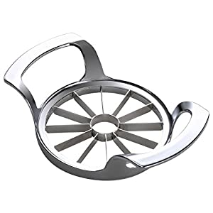 ❤ Update Craft: This upgrade apple slicer has 4 welding points on each blade highly attached on the central corer ring, which means it's stronger and more durable for daily using. ❤ Easy Using: Choose apples no bigger than 4inches, aim at the core, p...