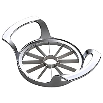 SAVORLIVING Apple Slicer Upgraded Version 12-Blade Extra Large Apple Corer Stainless Steel Ultra-Sharp Apple Cutter Pitter Divider for Up to 4 Inches Apples  Update