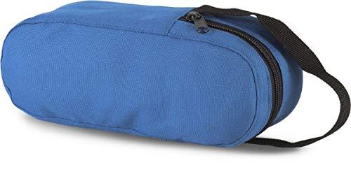 Sacoche de pétanque bleue, pour 3 boules, avec fermeture zippée.