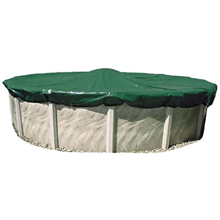 Amazon Com In The Swim 33 Foot Round Swimming Pool Winter Cover 12 Year Warranty Garden Outdoor