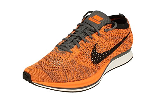 Nike Flyknit Racer Unisex Running Trainers 526628 Sneakers Shoes (UK 6 US 7 EU 42, Total Orange White Dark Grey 810)