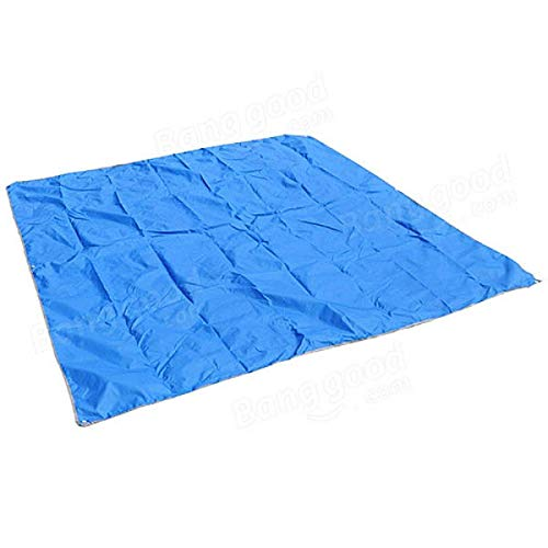 Heqianqian Toldo de tela Oxford para 3 – 4 personas con toldo (tamaño: 215 x 215 cm), color azul